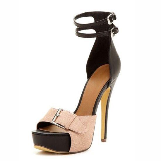 3fc5952bedb6 modabridal.co.uk SUPPLIES Tailor made Platform Line-Style Buckle Hasp  Summer Rubber Ultra-High Heel Open Toe Stiletto Heel Sandals Sandals