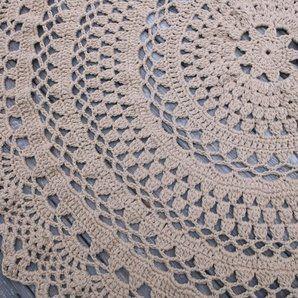 Crochet Round Floor Rug Pattern Free