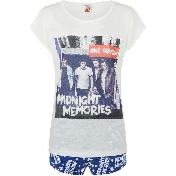 Teens Blue One Direction Midnight Memories Print T-Shirt And Pyjama ...