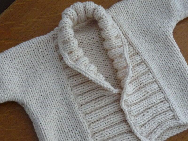 tricot gilet bebe facile gratuit