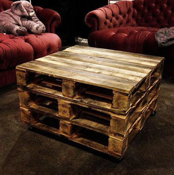 3 stacked pallet coffee table by sugarblossomsboutiq on etsy