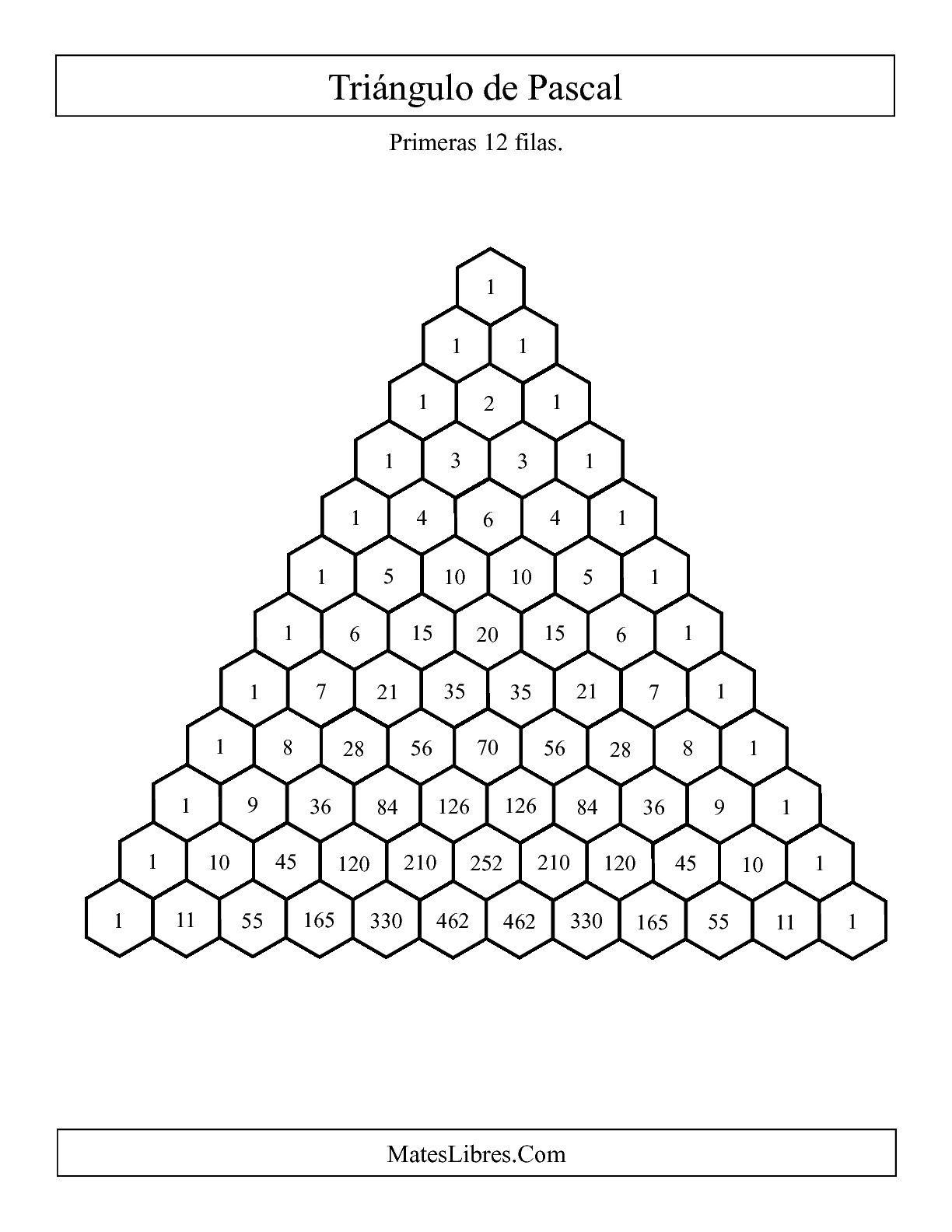 La Hoja De Ejercicios De Matematicas De Triangulo De