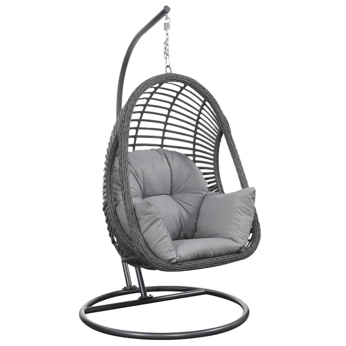 Golden Wave Furniture San Marino Basket Chair In Natural Grey Nebraska Furniture Mart Swinging Chair Egg Swing Chair Hanging Hammock Chair