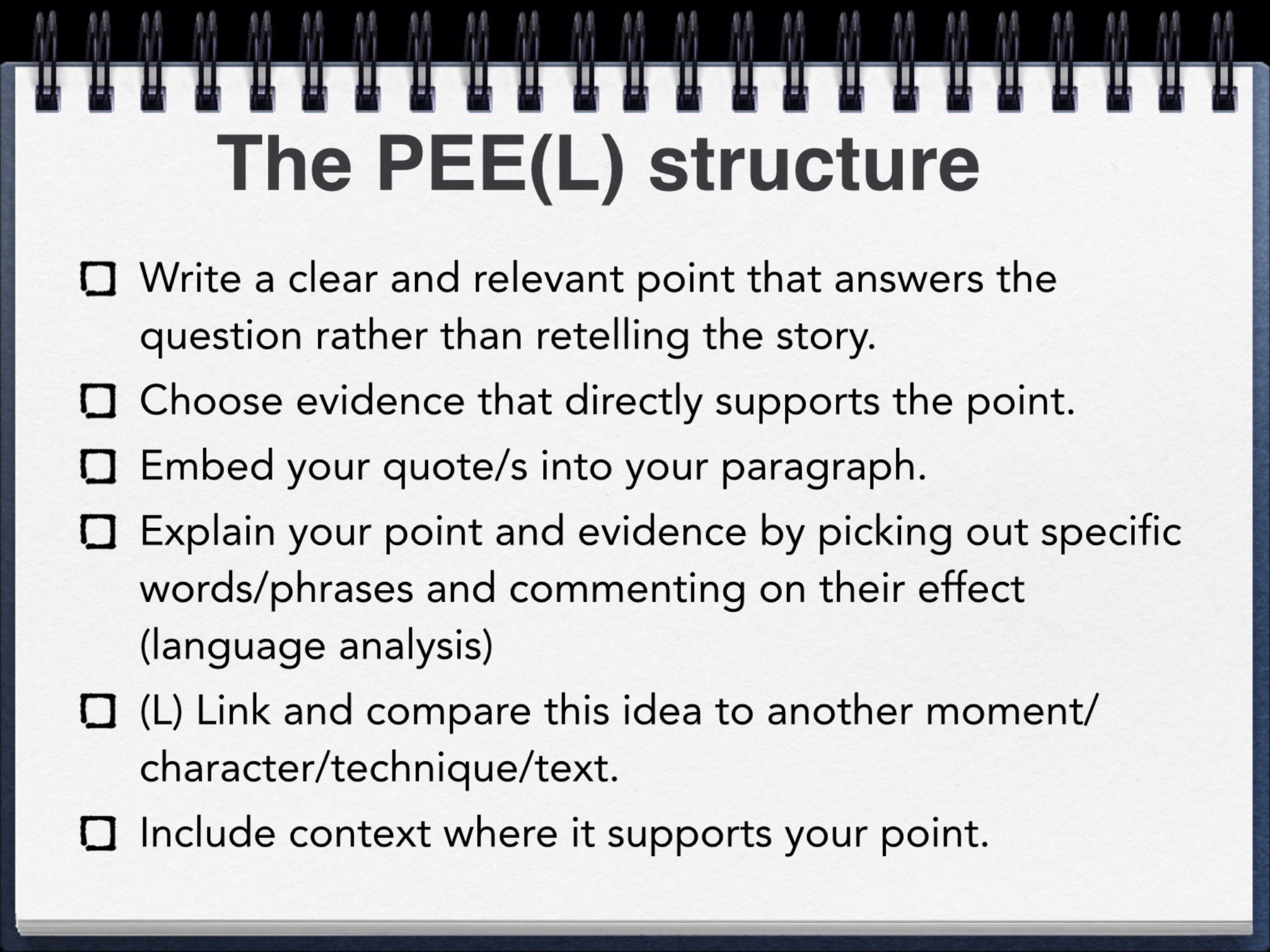 peel paragraph structure english teacher paragraph peel paragraph structure