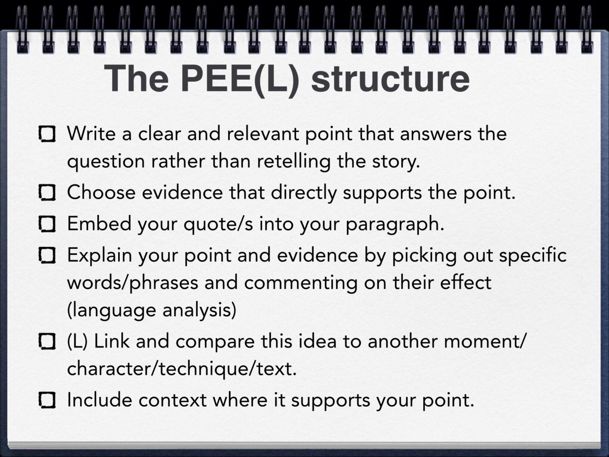 Peel Paragraph Structure