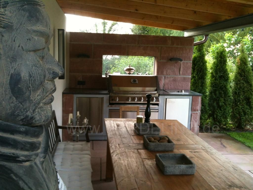Außenküche Mit Jelent : Aussenküche mit gasgrill selber bauen küche für draußen selber