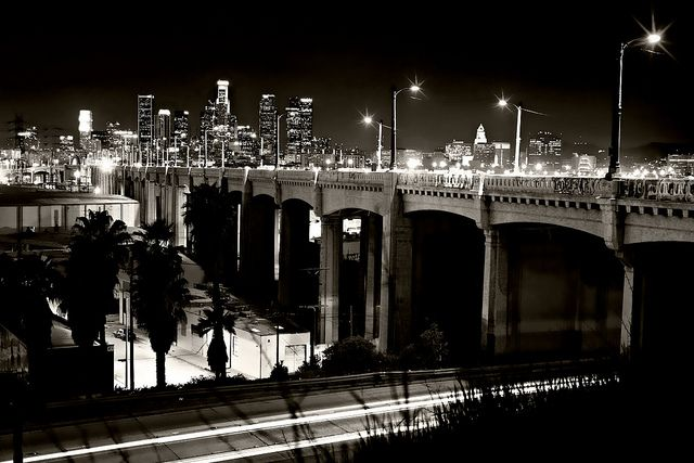 6th Street Cityscape In Black And White East Los Angeles Los Angeles Photography Los Angeles Skyline