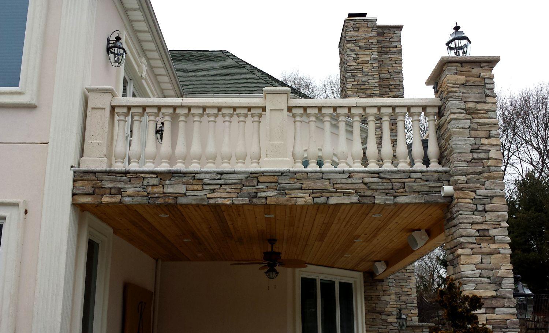 Precast Concrete (With images)   Balcony decor, Stone ...