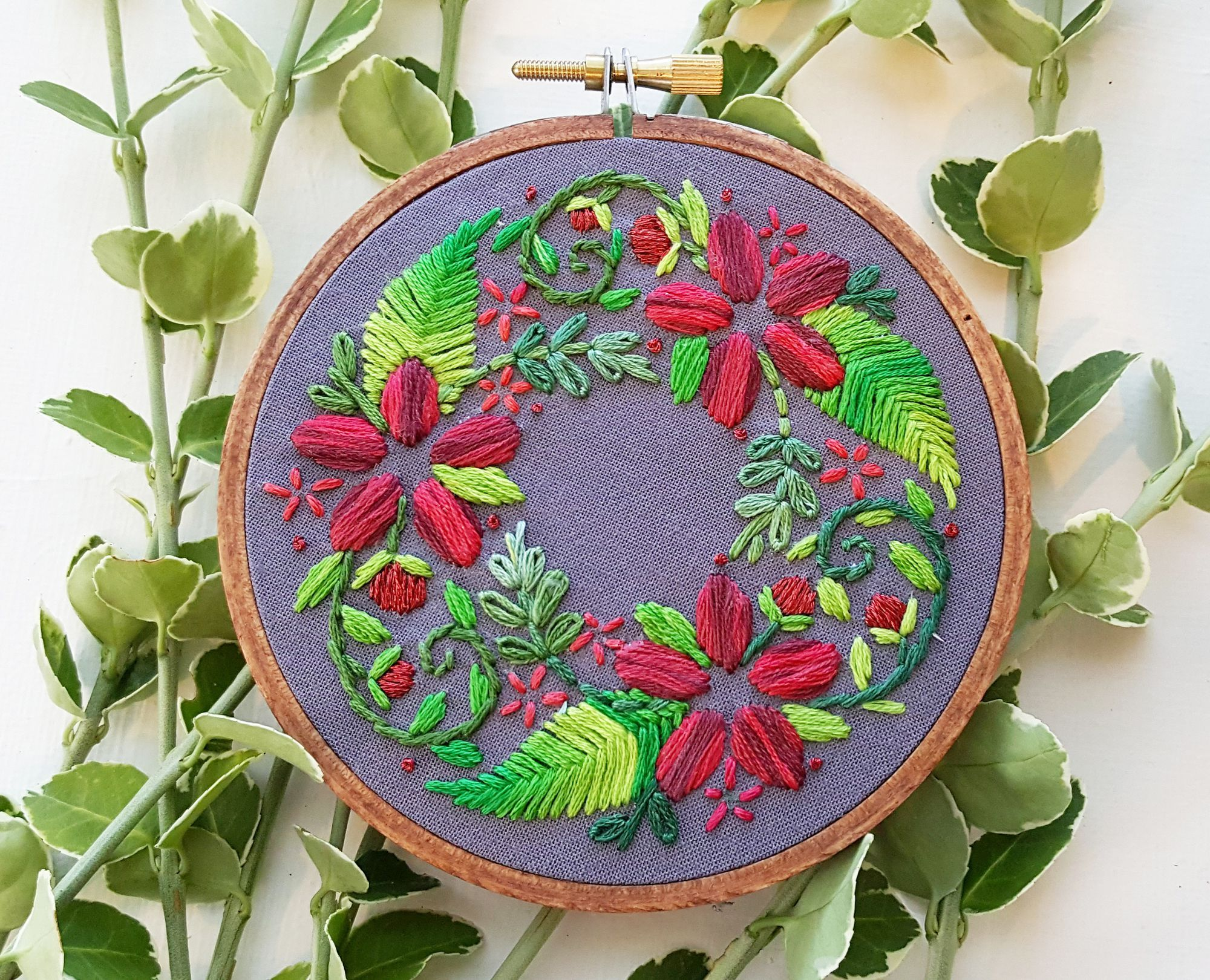 wreath embroidery patterns for any time of year craft things