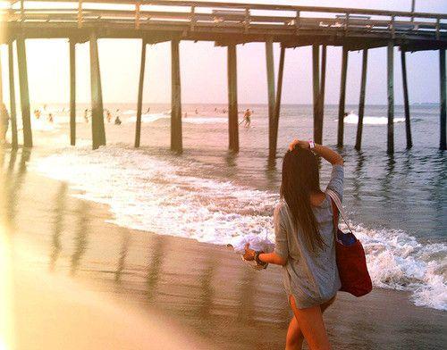 Walking by the pier.