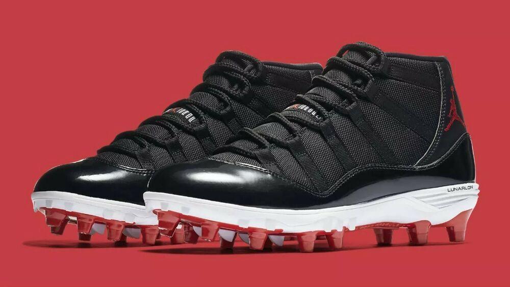 28eb50fae6d (eBay Sponsored) New Nike Jordan XI Retro TD Football Cleats Black-White-