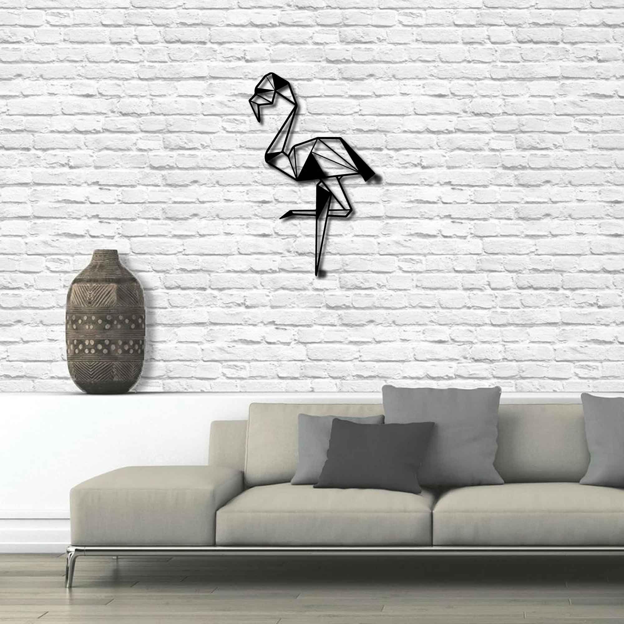 Metal Wall Art Flamingo Interior Decoration Home Decor Etsy Flamingo Interior Geometric Wall Decor Metal Wall Art