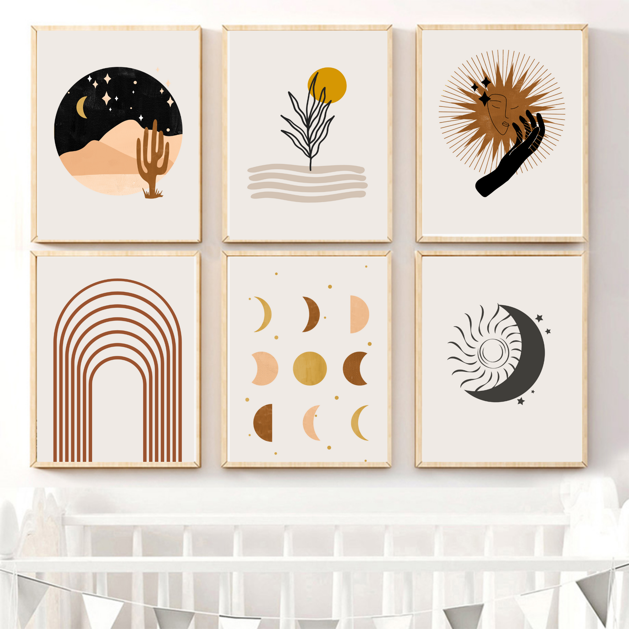 Gallery Wall Set Mid Century Modern New Home Gift