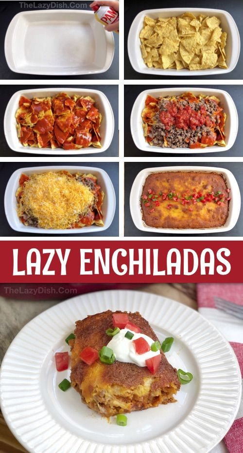 Quick & Easy Dinner Idea: Lazy Enchiladas (A family favorite!!) Perfect for busy weeknight meals. images