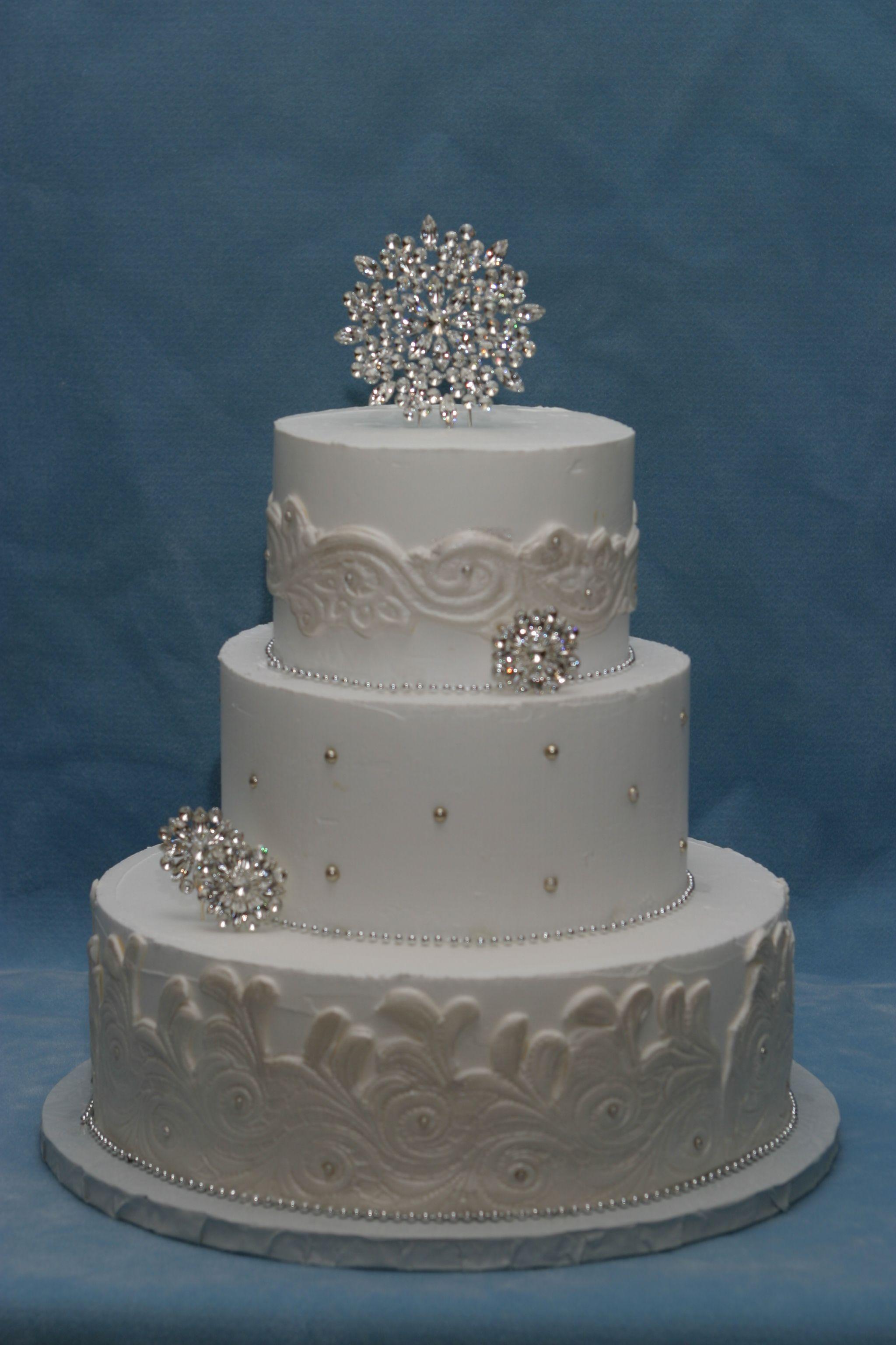 winter wedding cake - do without fondant, use buttercream ...