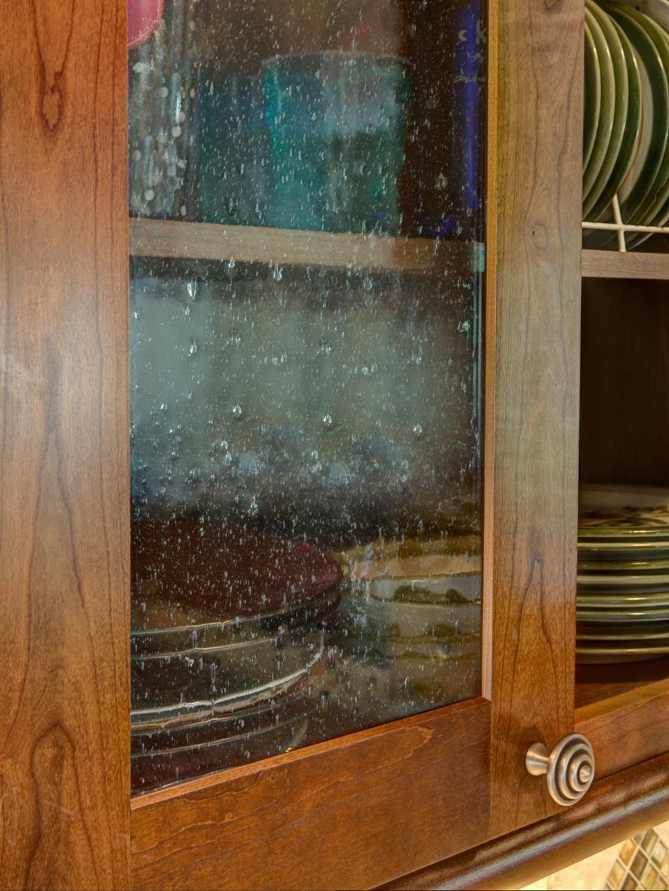 Warm Earthy Kitchen Glass Kitchen Cabinet Doors Earthy