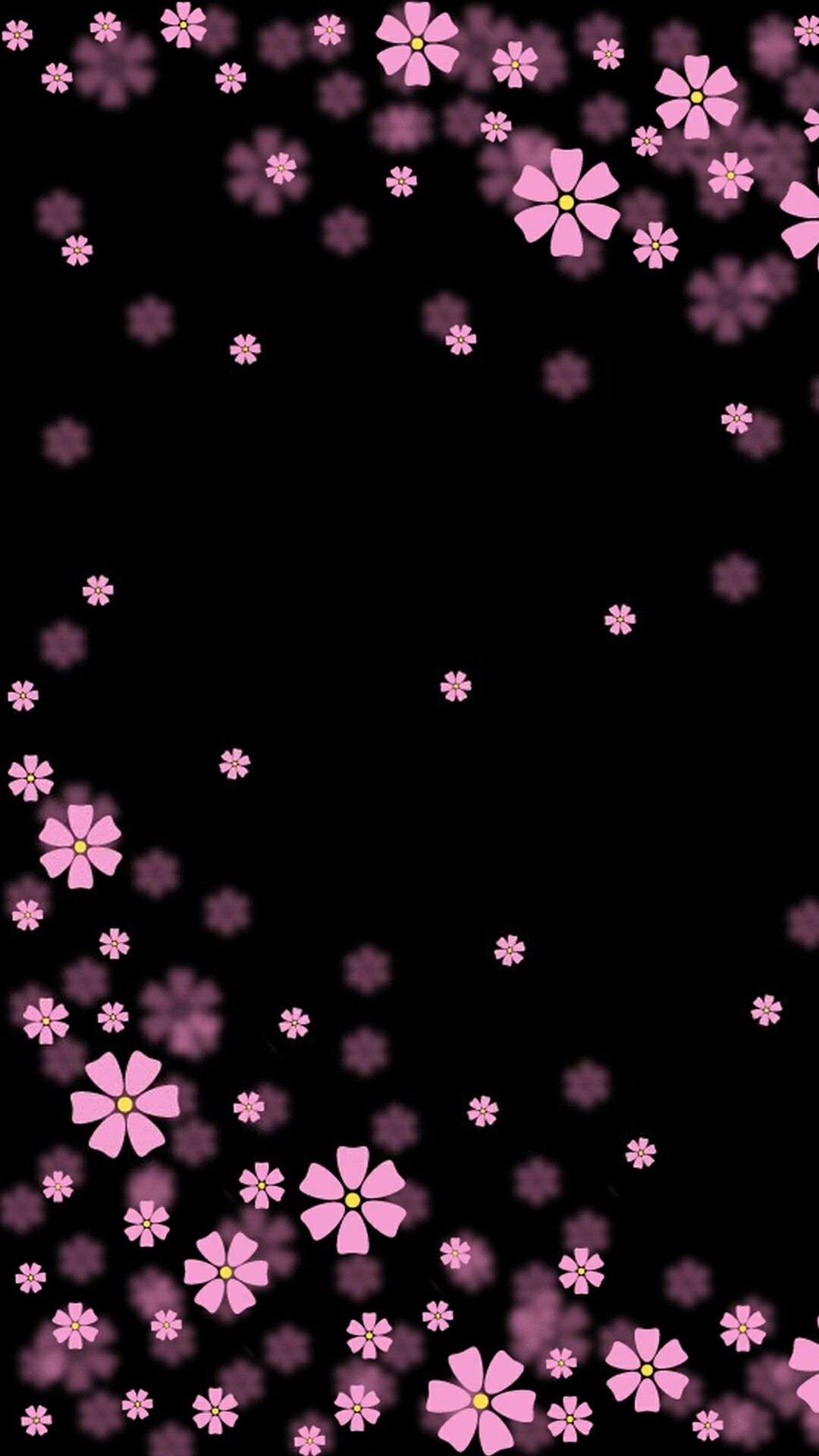 Black And Pink Flowers Backgrounds Pinterest Wallpaper Iphone
