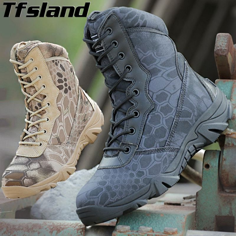 f5f6108e83f best price men breathable python camouflage boots special forces tactical  military boots desert army  tactical  boots