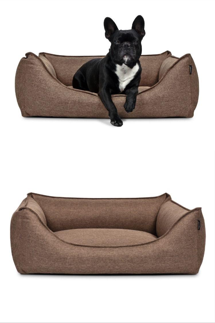 Ein Stylisches Hundebett Aus Trendigem Strukturpolsterstoff Dogbed Dog Pillow Hunde Kissen Hunde Bett Hundekissen