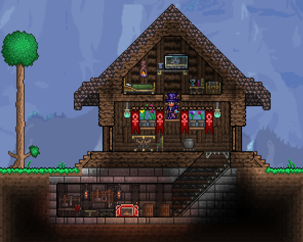 Top 10 best terraria structure ideasmasters infosoft for Best house designs terraria