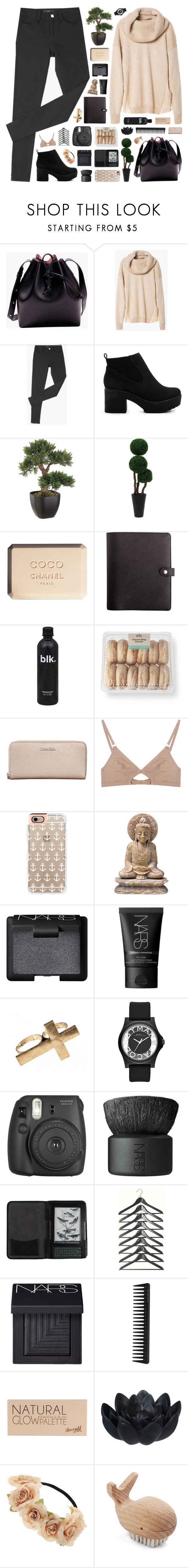 """""""How to Wear : Oversized Sweaters"""" by novalikarida ❤ liked on Polyvore featuring ASOS, Chanel, Calvin Klein, The Nude Label, Casetify, NARS Cosmetics, Marc by Marc Jacobs, Fujifilm, Cole Haan and GHD"""