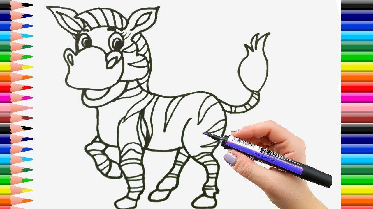 Dibuja y Colorea Una Zebra de Arco Iris - Dibujos Para Niños - Learn ...