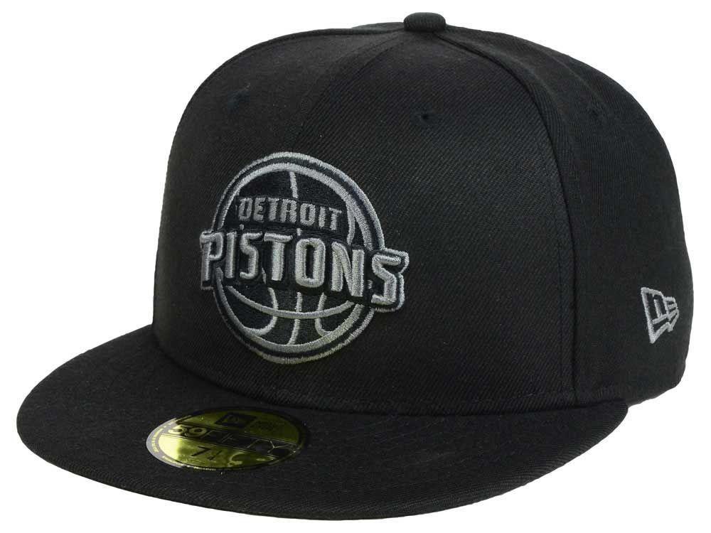reputable site b5abb 86dcb Detroit Pistons New Era NBA Black Graph 59FIFTY Cap