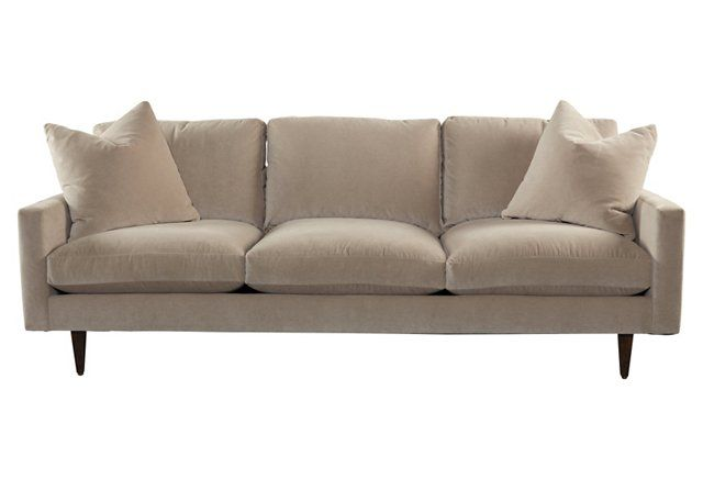 Oslo 92 Sofa Taupe Velvet Sofa Taupe Sofa Balcony Furniture
