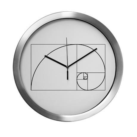 Fibonacci Sequence Wall Clock Clock Wall Clock Fibonacci