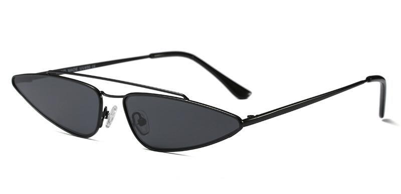bf3eb14652d Peekaboo small triangle sunglasses women cat eye metal frame brown gold black  vintage sun glasses for women 2018 uv400