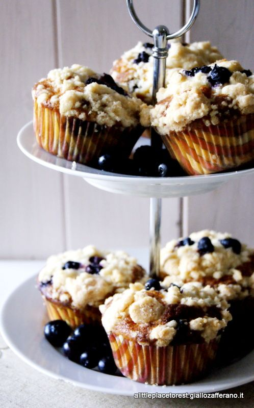 blueberry crumble muffins di Yotam Ottolenghi