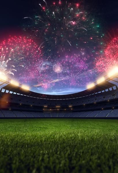 Kate Sports Soccer Field Sport Background Fireworks World Cup