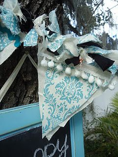 shabby banner with lights