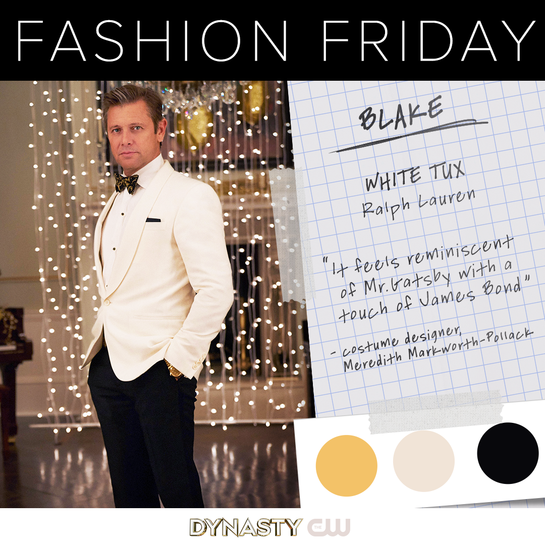 Blake Is Wearing A White Tux By Ralph Lauren It Feels Reminiscent Of Mr Gatsby With A Touch Of James Bond Costume Desi Fashion Friday Fashion Tv White Tux