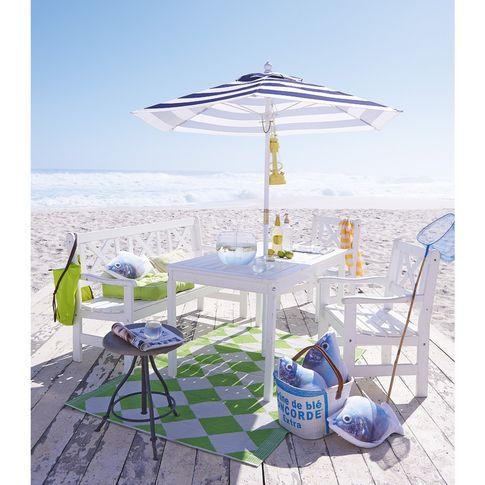 Gartenmöbel-Set in weiß #impressionen #garden Strandterrasse
