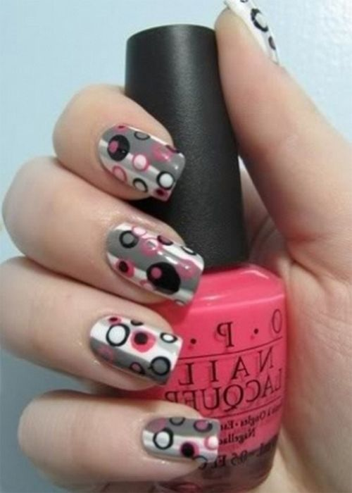 Vintage Fun Nail Art Design For Cool Spring Look