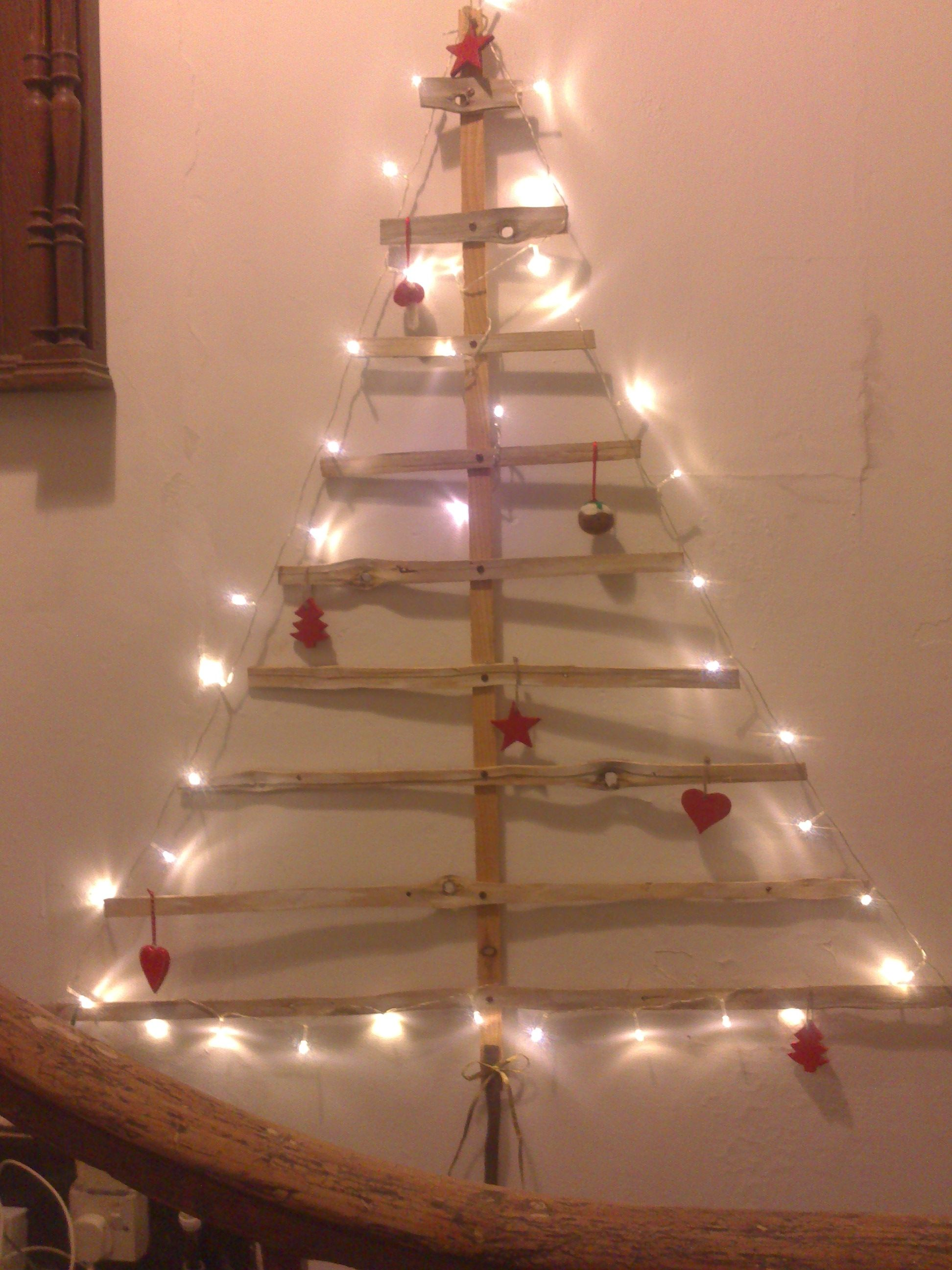 Our tree might not be green - but it's definitely GREEN - it's made from recycled laths