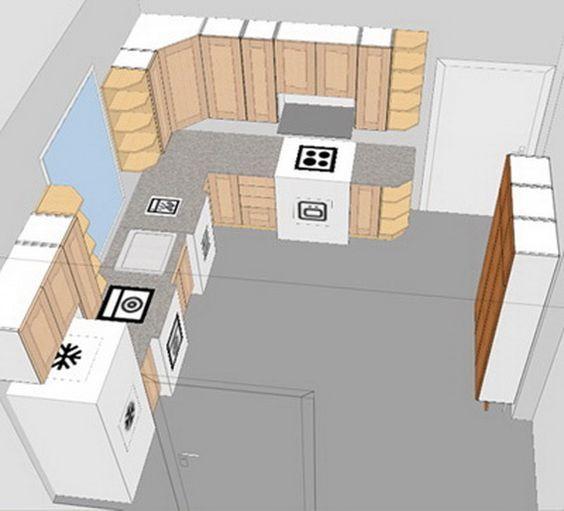 Solve Small Kitchen Design Layout Problem