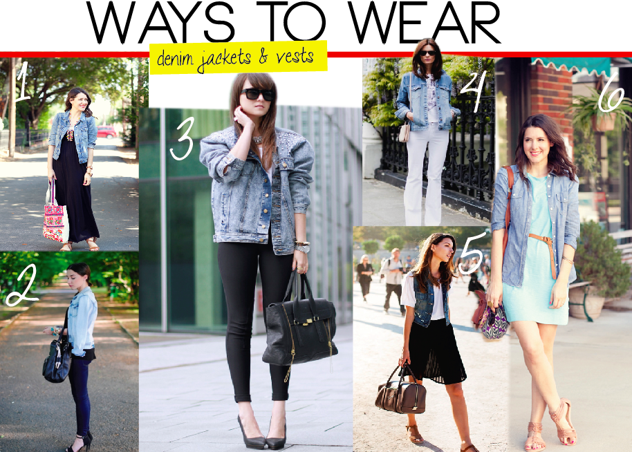 The handbook of style: WAYS TO WEAR : DENIM JACKETS AND VESTS ...