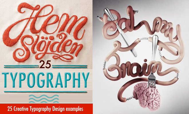 25 Best and Creative Typography Design examples for your inspiration. Read full article: http://webneel.com/25-best-and-creative-typography-design-examples-your-inspiration | more http://webneel.com/typography | Follow us www.pinterest.com/webneel