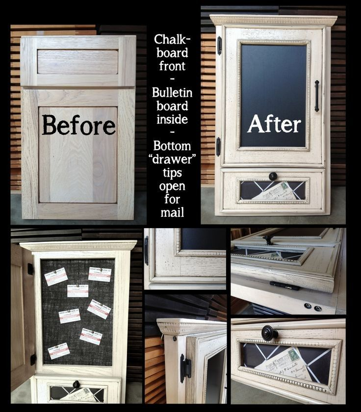 Love this idea for old cabinet fronts used as a command center. #homestagingavantapres