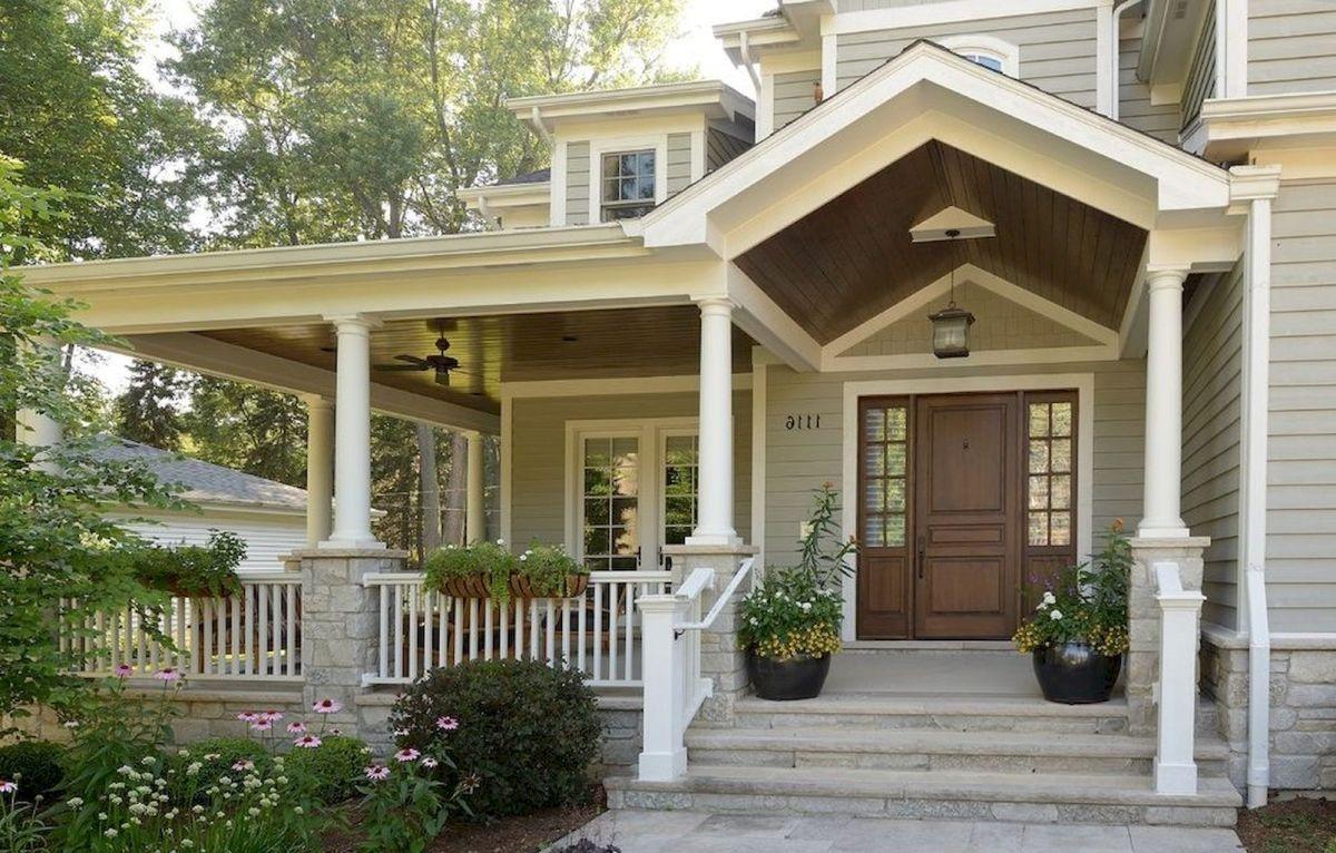 90 Awesome Front Door Farmhouse Entrance Decor Ideas 134 Worldecor Co Front Porch Design House Entrance Porch Design