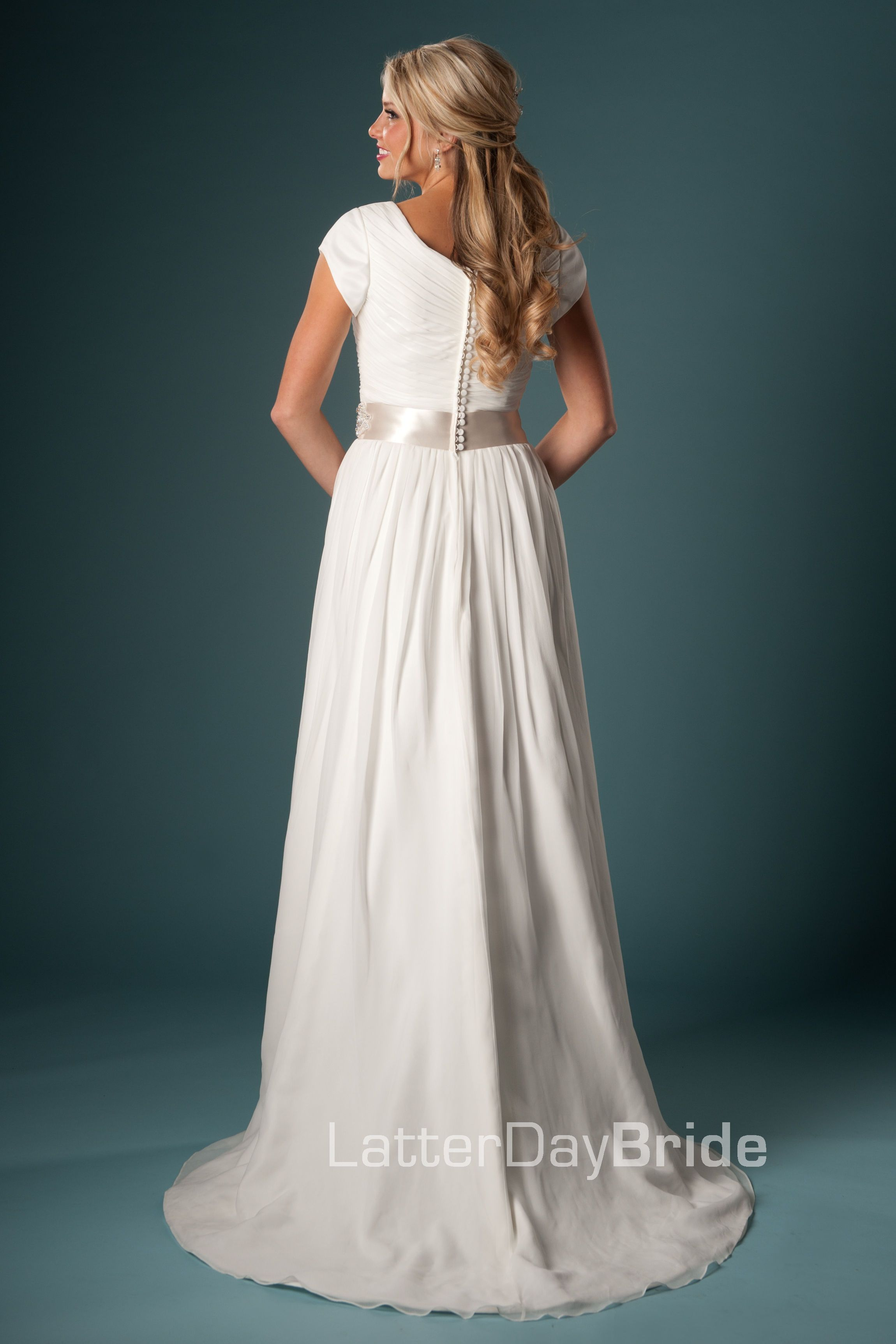 Modest Wedding Dress, Alvarito | LatterDayBride & Prom | Wedding ...