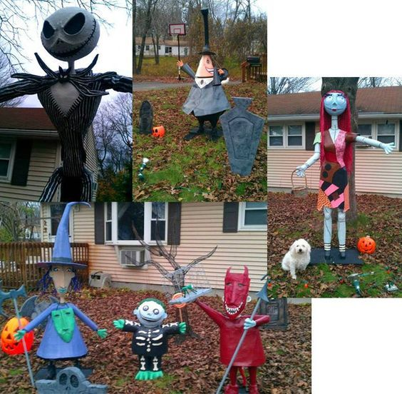 12 epic halloween home decorations nightmare before christmas guff - Nightmare Before Christmas Lawn Decorations