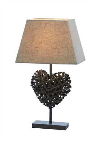 With rustic romance, neutral tones are key. This Rattan heart ...