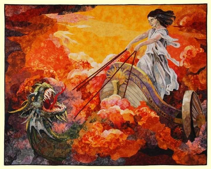 Medea Escaping by Marilyn Belford | MARILYN BELFORD ART/QUILT ... : pictorial quilts technique - Adamdwight.com