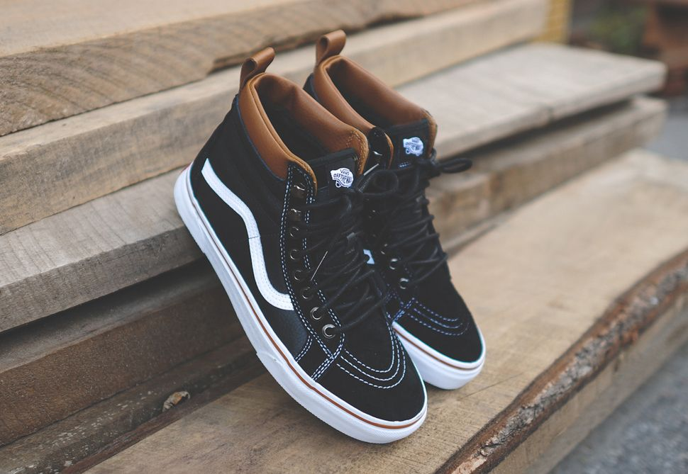 Vans Sk8 Hi MTE (Black, White & Brown)