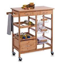 Küchenwagen Garten Servierwagen Küchentrolley Beistellwagen Küchenregal  Holz #gartenmöbel #gartenartikel #gartentipps #gartenausstattung #
