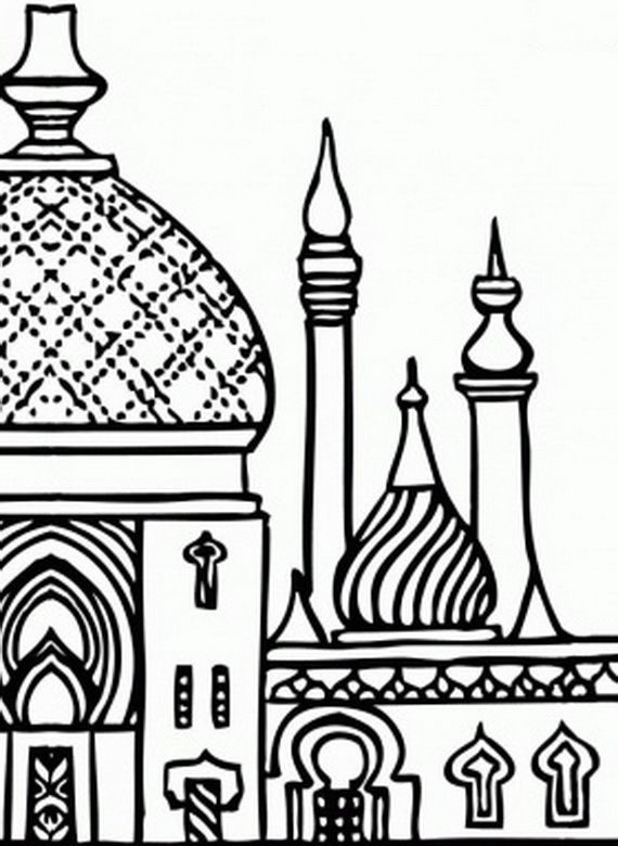 Isra Miraj Colouring Pages Adult ColouringBuildingsHouses
