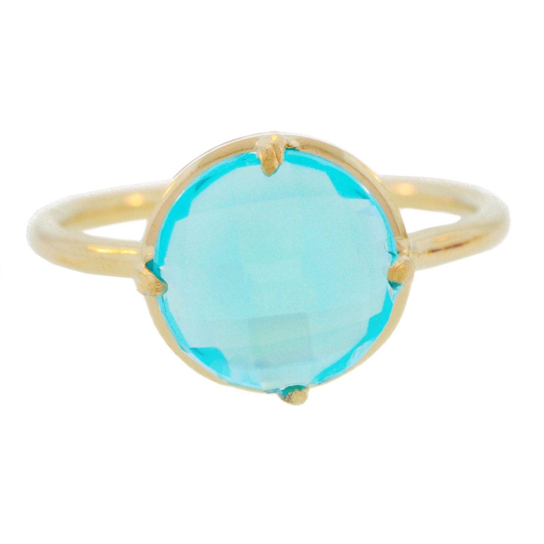 Gemma Stackable Ring Blue
